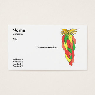 Pick of the Peppers Business Card Template