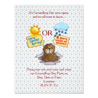 Pick One Groundhog Day Party Invitation
