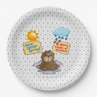 Pick One Groundhog Day Party Paper Plate 9 Inch Paper Plate