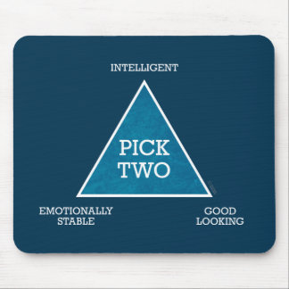 Pick Two Triangle mousepad