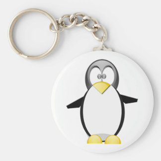 Pick Up A Penquin Basic Round Button Keychain