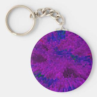 Pick-up-sticks-purple Basic Round Button Keychain