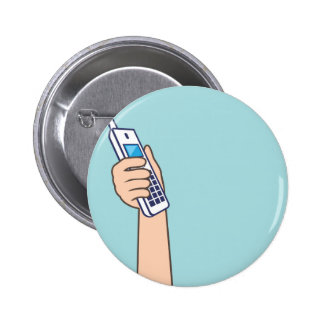 Pick up the phone Vector 2 Inch Round Button