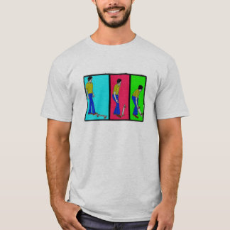 pick up your skateboard w border mosaic filter T-Shirt