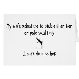 Pick Wife or Pole Vaulting Card
