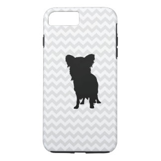 Pick Your Color Chevron With Yorkie Silhouette iPhone 8 Plus/7 Plus Case