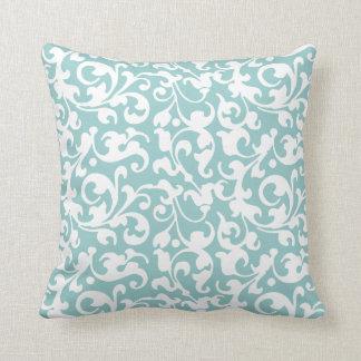 Pick Your Color Renaissance Elegant Scroll Damask Throw Pillow