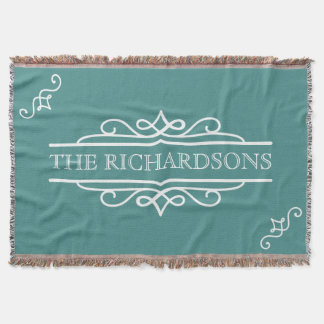 Pick Your Color Wedding Anniversary Personalized Throw Blanket