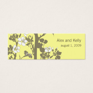 Pick Your Own Color Wedding Website Business Card