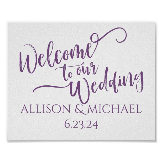 PICK-YOUR-OWN-COLOR! Wedding Welcome Sign
