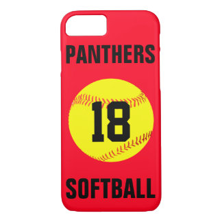 Pick Your Own Colour Custom Softball Phone Case