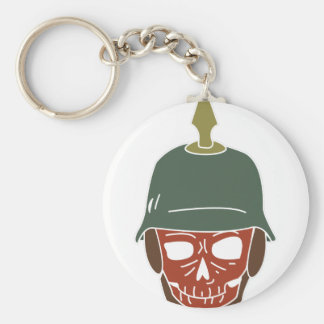 Pickelhaube Helmet Basic Round Button Keychain