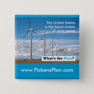 Pickens Plan - Wind 2 Inch Square Button