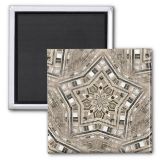 Picket Pentacles Square Magnet