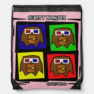 PICKETT MONSTER - 4 SQUARE - 3D GLASSES DRAWSTRING BAG