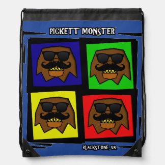 PICKETT MONSTER - 4 SQUARE - INCOGNITO DRAWSTRING BAG