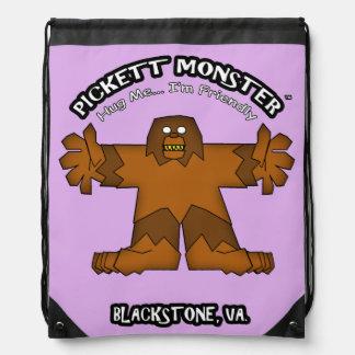 PICKETT MONSTER - Hug Me...I'm Friendly Drawstring Bag