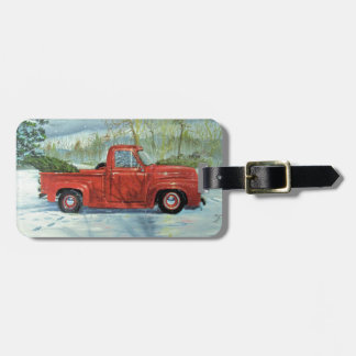 Picking up the Tree for Christmas Luggage Tag
