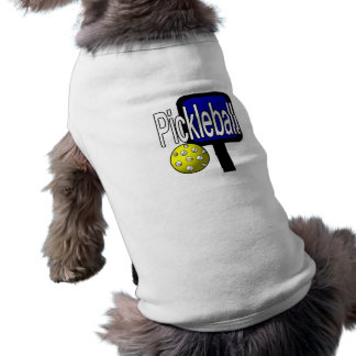 Pickle and ball graphic with paddle and ball doggie shirt