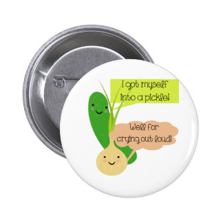 Pickle and Onion Humor 2 Inch Round Button