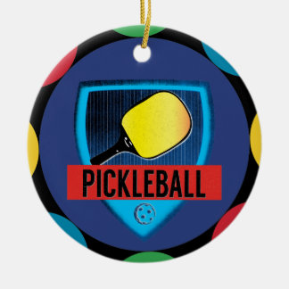 Pickle Ball Player Dink Ceramic Ornament