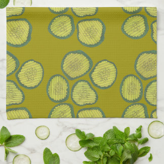 Pickle Chips Green Dill Pickle Chip Kitchen Towel