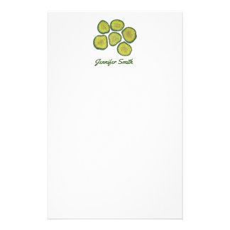 Pickle Chips Green Dill Sweet Pickles Personalized Stationery