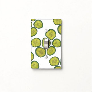 Pickle Chips Green Kosher Dill Pickle Chip Design Light Switch Cover