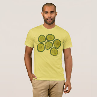 Pickle Chips Green Kosher Dill Pickle Chip Design T-Shirt