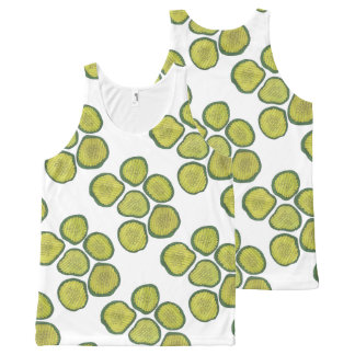 Pickle Chips Green Kosher Dill Pickle Chip Print All-Over-Print Tank Top