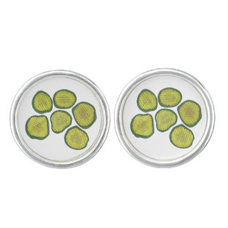 Pickle Chips Green Kosher Dill Sweet Pickle Foodie Cufflinks