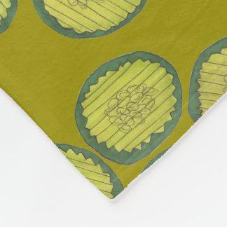 PIckle Chips Homemade Sweet Pickles Foodie Gift Fleece Blanket