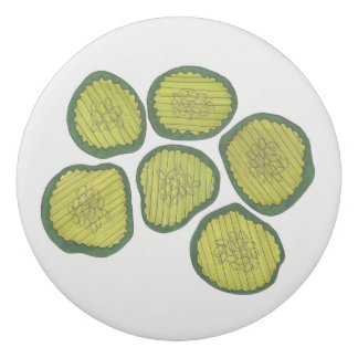 Pickle Chips Sweet Pickles Food Green Kosher Dill Eraser