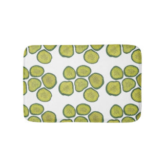 Pickle Chips Sweet Pickles Food Kosher Dill Design Bath Mat