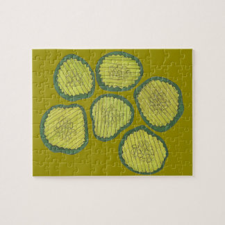 Pickle Chips Sweet Pickles Food Kosher Dill Design Jigsaw Puzzle
