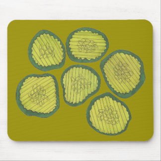 Pickle Chips Sweet Pickles Food Kosher Dill Design Mouse Pad