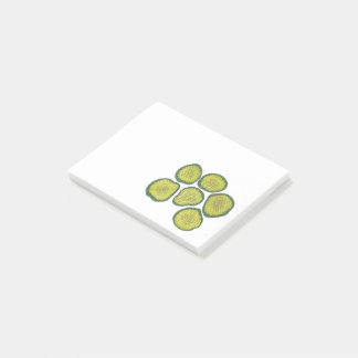 Pickle Chips Sweet Pickles Food Kosher Dill Design Post-it Notes