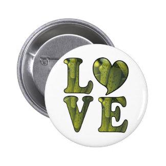 Pickle LOVE 2 Inch Round Button
