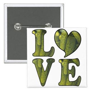 Pickle LOVE 2 Inch Square Button