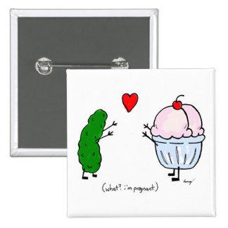 Pickle Loves Ice Cream Button