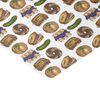 Pickle Reuben Sandwich Blintz Bagel Knish Foodie Tissue Paper