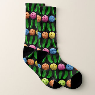 Pickleball and Green Pickles socks 1