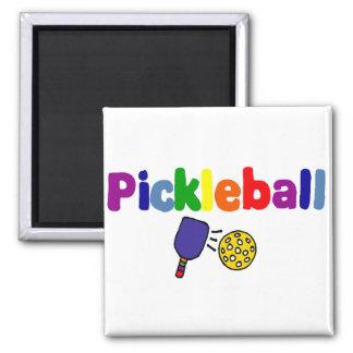Pickleball Art Square Magnet