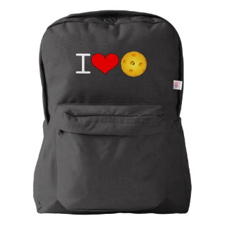 "Pickleball Backpack: ""I Love Pickleball"" Backpack"