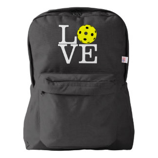 "Pickleball Backpack: ""LOVE"" (Black) Backpack"