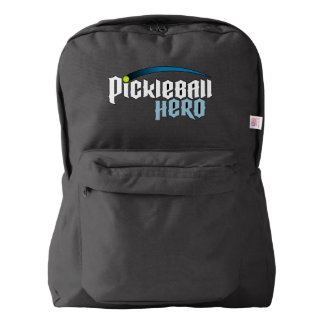 "Pickleball Backpack: ""Pickleball Hero"" (Black) Backpack"