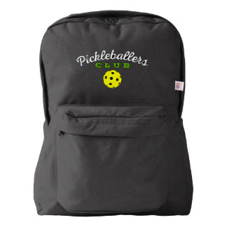 "Pickleball Backpack: ""Pickleballers Club"" (Black) Backpack"