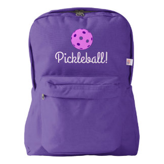 Pickleball Backpack (Pink & Purple)