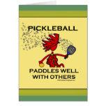 Pickleball barbote bien avec d'autres cartes de vœux