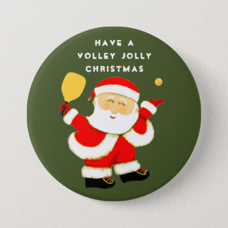Pickleball Christmas 3 Inch Round Button